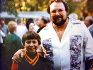 Pic of 8 year old Todd with Eddie Sr