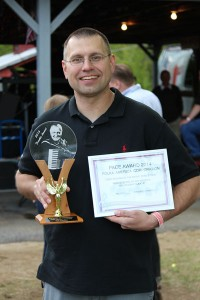 Todd Zaganiacz with his Frankie and PACE awards