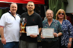 May 18, 2014 - Chris Valcik, Todd Zaganiacz, Billy Belina, Joni Minehart at Pierogy Festival right after Billy & Todd received their PACE Award from the Polka America Corporation.  http://www.polkaamericacorporation.org/