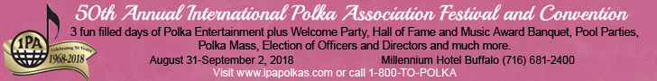 International Polka Association Festival 2018 - August 31-September 2 in Buffalo, New York