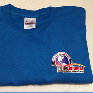 Sapphire Blue Polka Jammer Network T-shirt