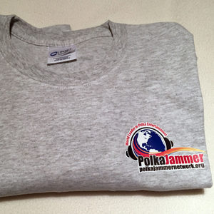 Heather Gray Polka Jammer Network T-shirt