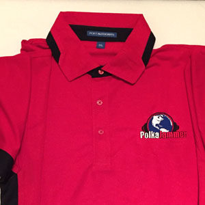 Polo Shirt with Polka Jammer Network Logo