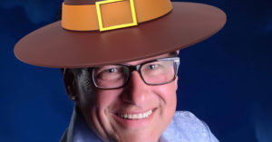 Keith Stras wearing a Pilgrim Hat