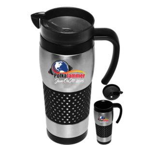 polka jammer network stainless steel coffee mug