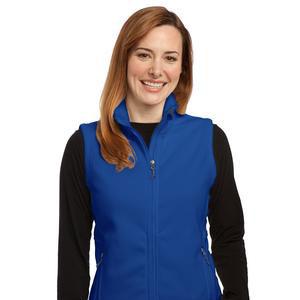 Women's Blue Fleece Vest