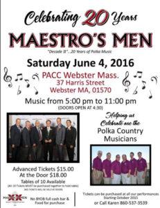 Maestro's Men 20th Anniversary