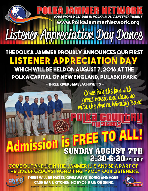 Listener Appreciation Day Dance & Live Broadcast Aug 7 2016