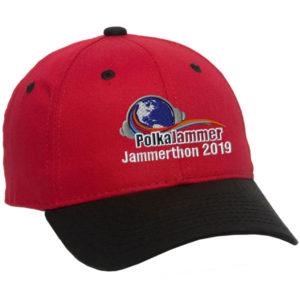 red 2019 jammerthon baseball cap