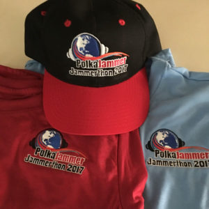 Embroidered t-shirt & hat for 2017 Jammerthon