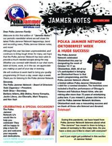 Jammer Notes Oct Nov 2020 Newsletter